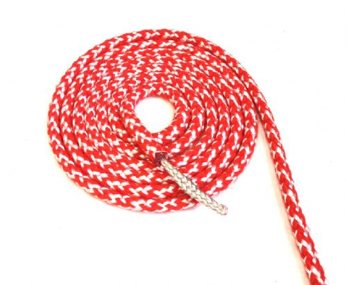 Lightweight Dinghy Sheet 8mm Dyneema Core Tapering Red
